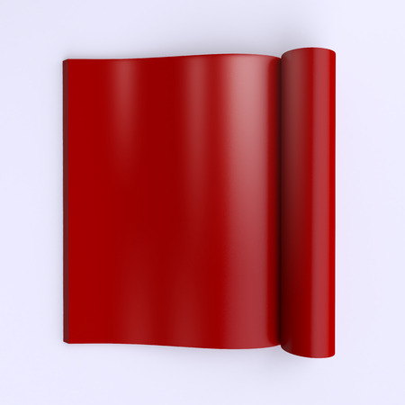 journal: Template blank pages of an open journal, newspapers or books. 3d illustration. Top view. Stock Photo
