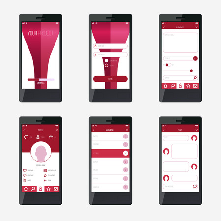 mobile application: Template mobile application interface design.