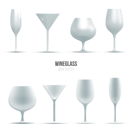 wineglass: Template of wineglass for liquid. Illustration