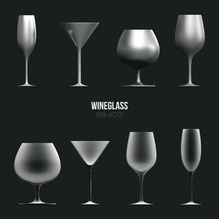 tumbler: Template of wineglass for liquid. Illustration