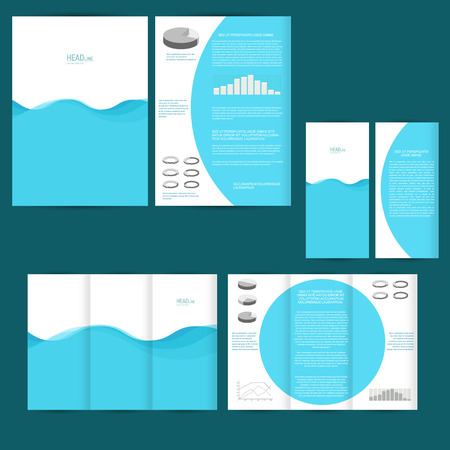 maketing: Set of design template with flyer, poster, brochure. For advertising, corporate identity, business, and other printing products.