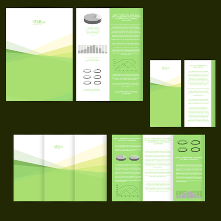 Set of design template with flyer, poster, brochure. For advertising, corporate identity, business, and other printing products.