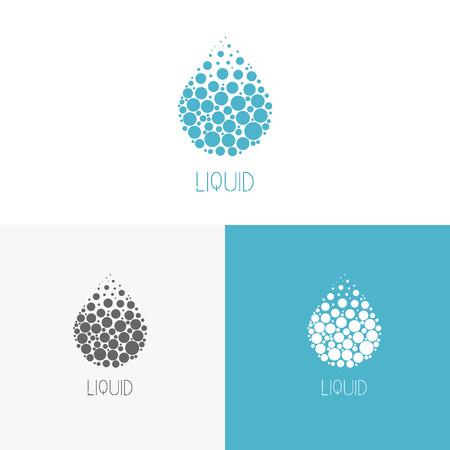 Logo source d'inspiration pour les magasins, les entreprises, la publicité ou d'autres affaires. Vector Illustration, éléments graphiques modifiables pour la conception avec de l'eau. Logo