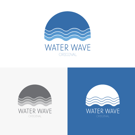 clean water: Logo inspiration for shops, companies, advertising or other business. Vector Illustration, graphic elements editable for design with water.