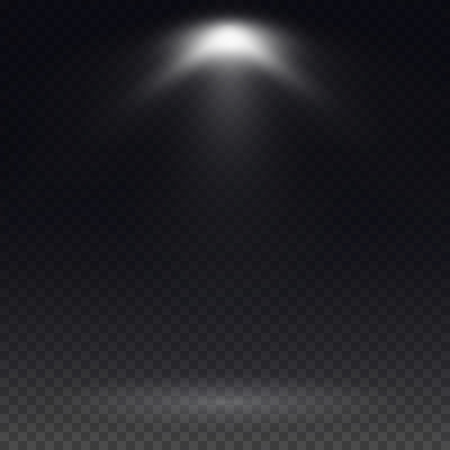 night club interior: Vector spotlight. Light effect.