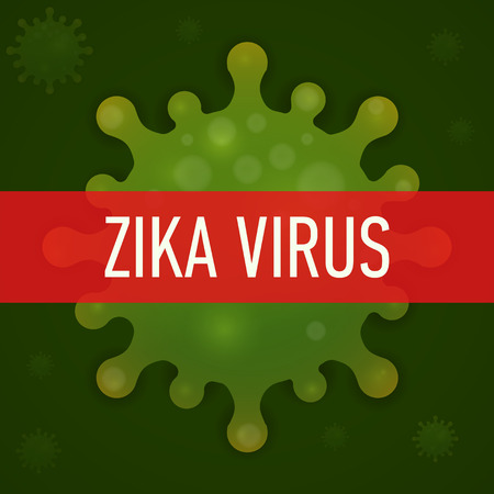 outbreak: Graphic concept outbreak of  new virus Zika.