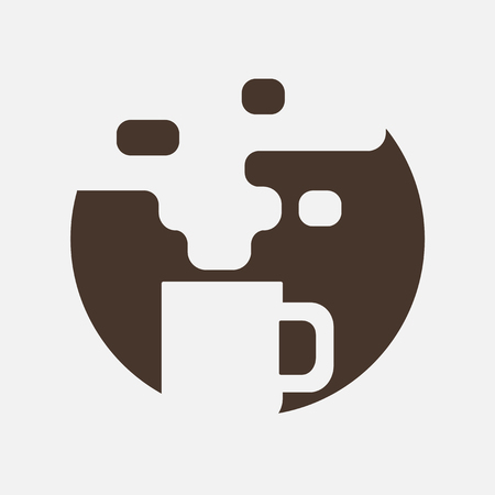 food and beverage: Coffee cup icon in line style. Illustration