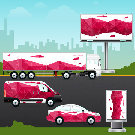 outdoor advertising: Design template vehicle, outdoor advertising or corporate identity.