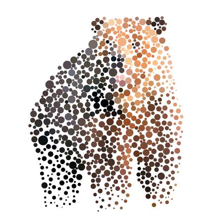 orso silhouette composto da cerchio.