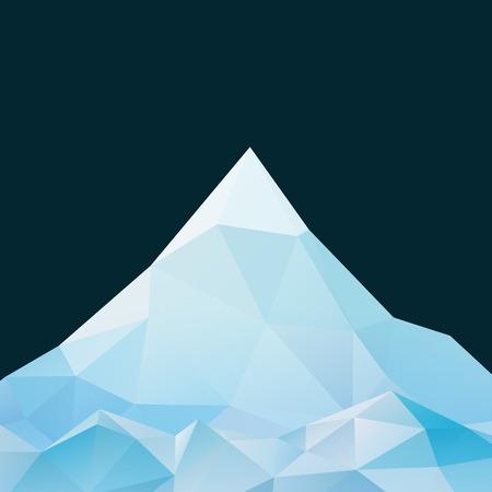 多角形の折り紙のスタイルで抽象的な山の風景  イラスト・ベクター素材