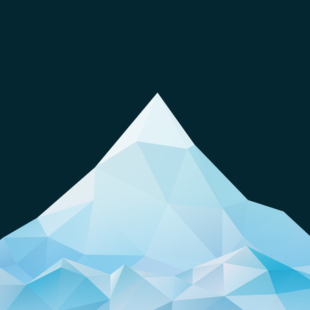 Abstract mountain landscape in polygonal origami style Иллюстрация