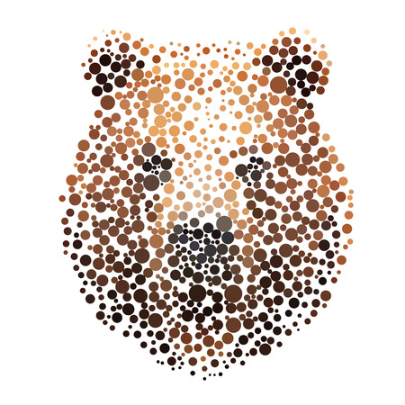 Bear silhouette consisting of circle.