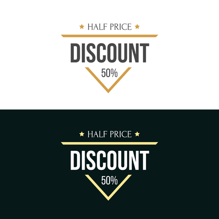 Labels in retro and vintage style. Vector Illustration. Graphics elements for commerce, product promotion, advertising, sell products, discounts, sale.