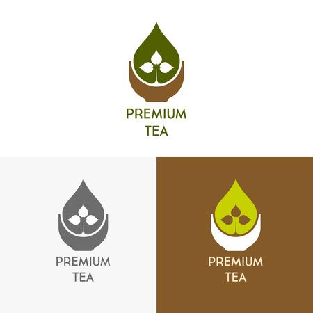 inspiratie voor winkels, bedrijven, reclame of andere zaken met thee. Vector illustratie, grafische elementen bewerkbaar voor het ontwerp.