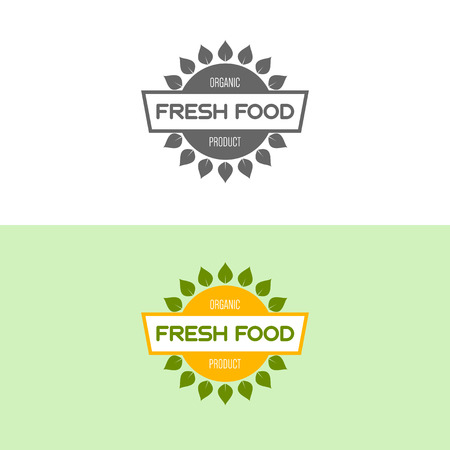 Logo inspiration for shops, companies, advertising or other business. Vector Illustration, graphic elements editable for design with fresh, nature, organic products. Illustration