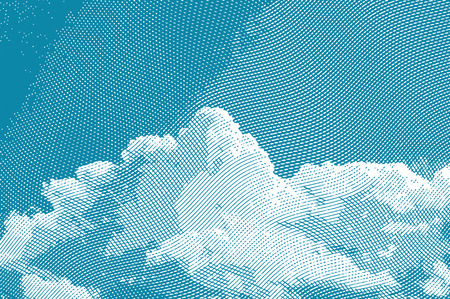 gravure: Vintage background with sky clouds engraving. Vector illustration.