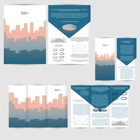 Set of design template with flyer, poster, brochure. Mock up for advertising, corporate identity, business, and other printing products.