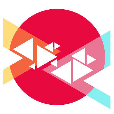 Abstract trendy sjabloon met verschillende geometrische vormen en texturen.