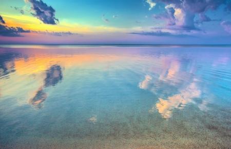 Sunset over beautiful seaside Stock Photo - 17473406