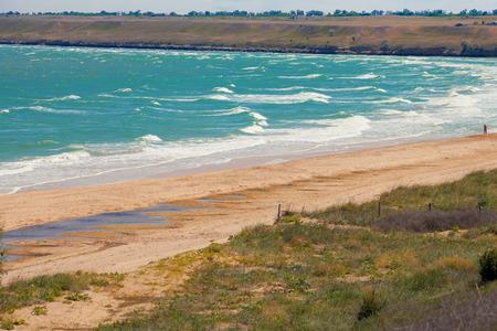 azov sea: Seashore in Crimea  Azov sea  Ukraine  Stock Photo