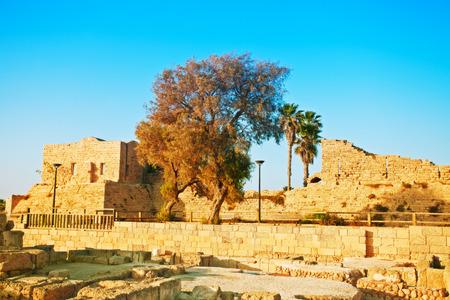 caesarea: Ruins of ancient city Caesarea in Israel