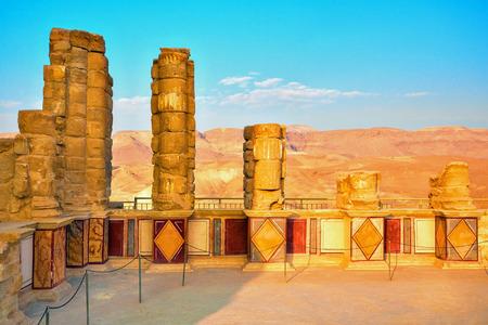 masada: The ruins of the palace of King Herod s Masada