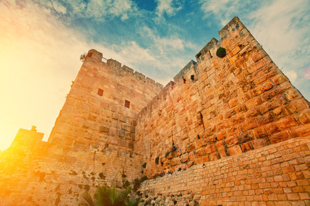 Ancient wall in old city Jerusalem Stok Fotoğraf - 30701343