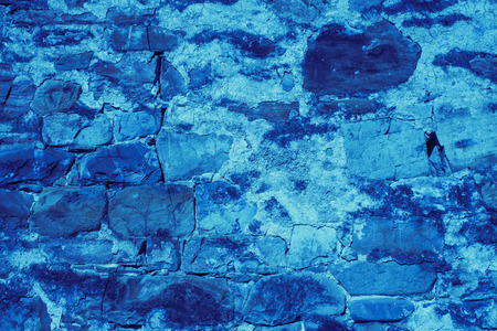 Blue stone wall texture background photo