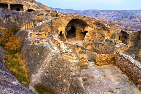 Antique cave city Uplistsikhe, Georgia country Imagens