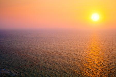 Butiful sunsef over Mediterranean Sea photo