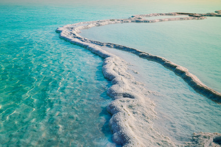 sal: Mar muerto orilla sal