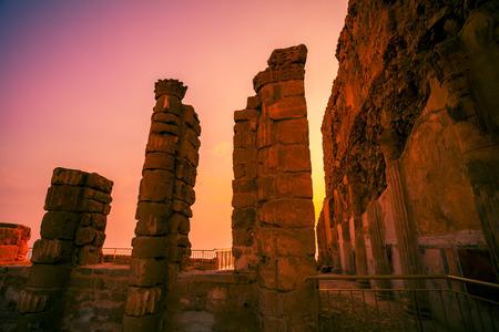 masada: King Herod Masada fortress ruins