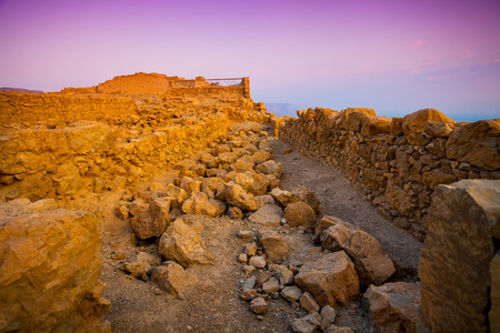 judaean desert: Ruins of King Herod palace in Masada, Judaean Desert, Israel