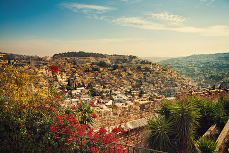 Panoramic view of old city Jerusalem, Israel
