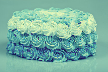 ombre: Blue vintage creamy Ombre cake