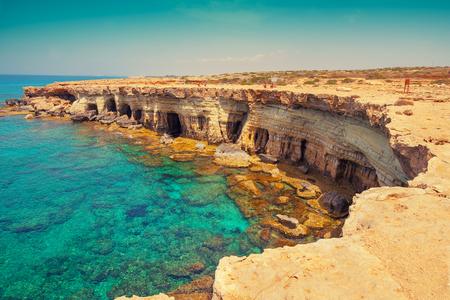 igneous: Igneous rocky sea coast Stock Photo