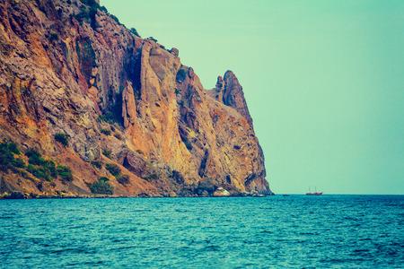 landscape stones: Rocky sea coast