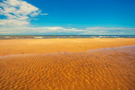 high tide: The beach at high tide