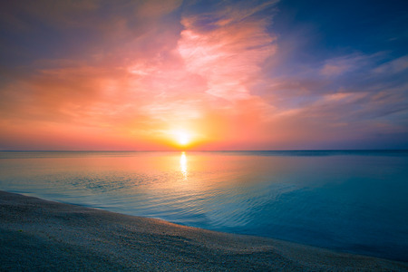 horizons: Sunrise over sea