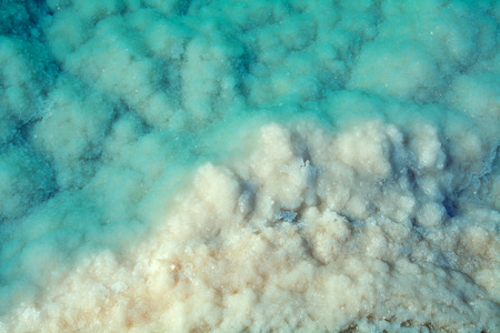 Textur des Toten Meeres. Salz Meer Standard-Bild