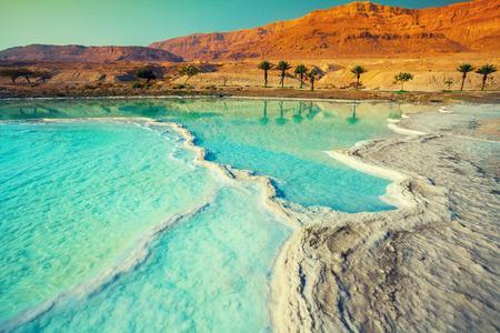 死海塩海岸 写真素材