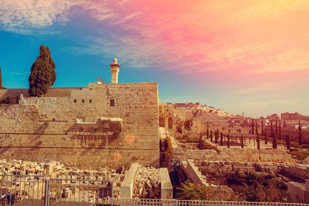 Vecchia città di Gerusalemme Archivio Fotografico - 53682341