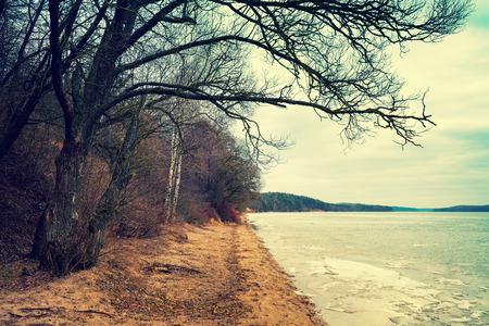 horison: Riverbank in winter