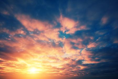 vermeil: Cloudy sky at sunset