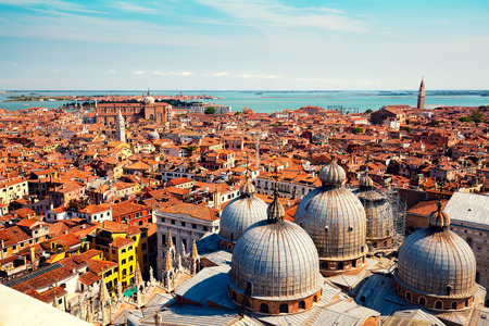 the campanile: Panoramic view of Venice from St Marks Campanile, Italy