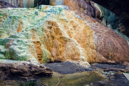 therapy geothermal: Thermal springs San Filippo, Tuskany, Italy Stock Photo