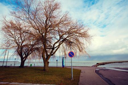 embankment: Embankment in Nida, Neringa, Lithuania Stock Photo