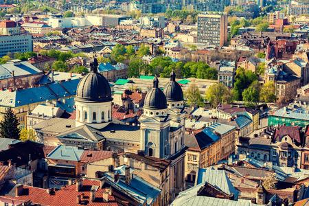 lemberg: Panoramic view of Lviv city, Ukraine, Europe