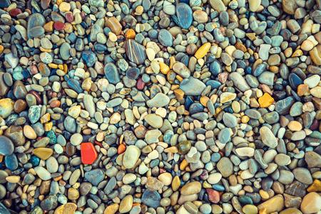 pebbles: Vintage colorful pebbles background