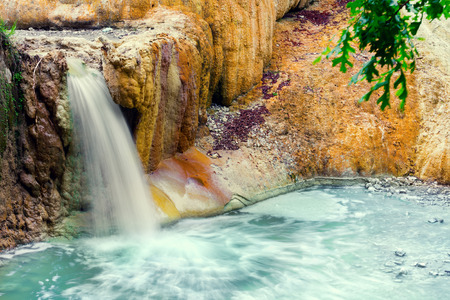 therapy geothermal: thermal springs San Filippo in Val DOrcia, Italy